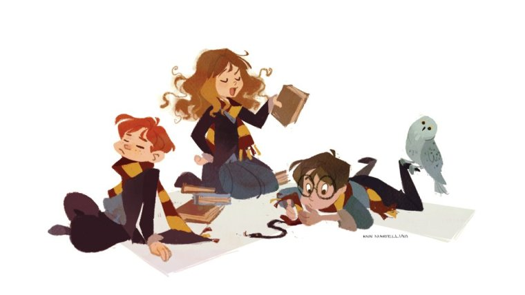 Ron-Hermione-Harry